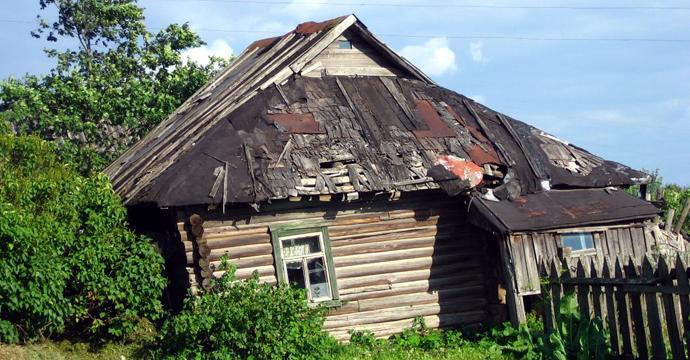 Бедняцкий деревенский домик